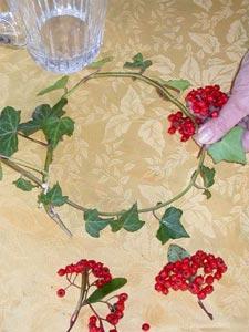 placement des bouquets de baies