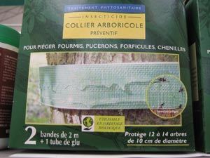 Boîte de collier arboricole ou bande de glu