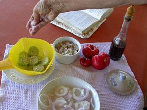 Saler le concombre