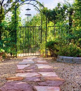 Ornement portail entr e cloture tout Entree de jardin