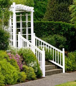 Escalier de jardin avec garde corps
