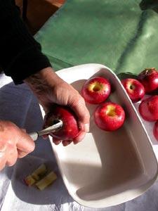 Evidage des pommes