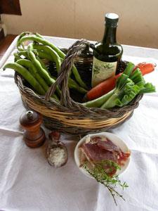 Ingrédients du potage à la fève