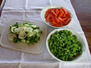Légumes émincés