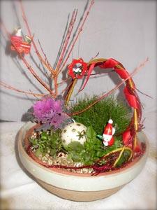 Décor de fête - potée fleurie