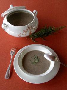 Soupe aux champignons et à l'estragon