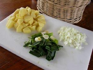pomme de terre, oignon, poireau