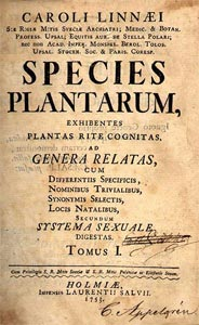 Species plantarum - Linné