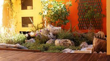am nager un petit jardin de ville. Black Bedroom Furniture Sets. Home Design Ideas