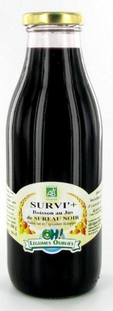 Survi +, une boisson au jus de sureau