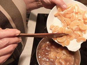 Clémentines dans la sauce