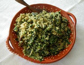 Plat d'épinards à la quinoa