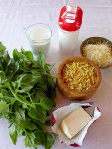 Ingrédients pour le gratin