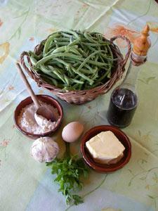 Haricots verts en sauce blanche