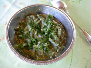 haricots verts sauce blanche