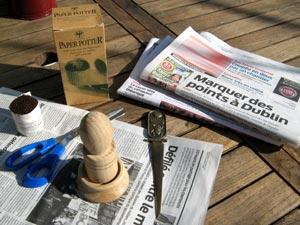 Paper Potter, papier journal, ciseaux, coupe-papier