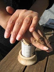 Presser le papier sur la base du Paper Potter