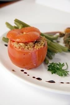 Tomate farcie à la quinoa