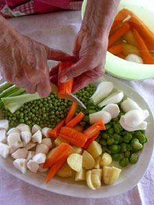 Découpage des légumes