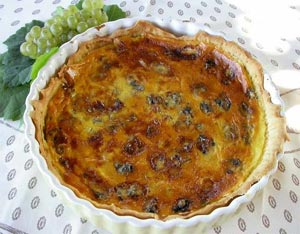 Tarte raisin et 2 fromages