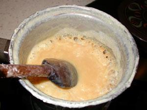 Préparation de la confiture de lait
