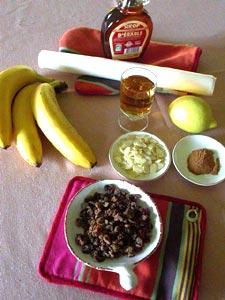 Bananes en papillotes : ingrédients