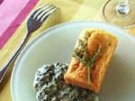 Brioches au saumon et leur crème d'oseille