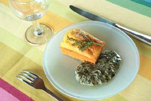 Brioche au saumon et sa crème à l'oseille