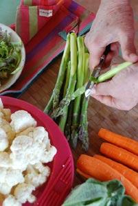 Eplucher, découper les légumes de saison