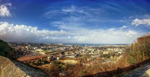 Vue panoramique de la ville de Cherbourg