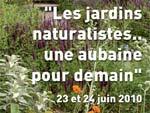 Les jardins naturalistes... une aubaine pour demain