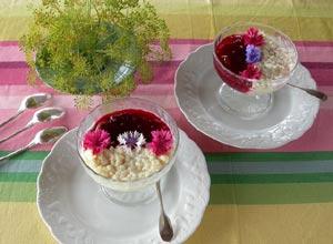 Le duo compote de prune et riz au lait