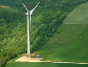 Vue aérienne illustrant l'emprise au sol