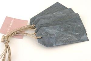 Etiquettes en zinc