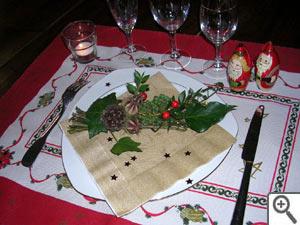 Fagot de Noel sur la table des fêtes !