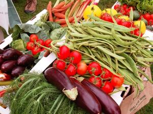Fruits et légumes fraîchement cueillis