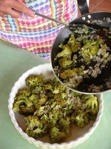 Ingrédients du gratin de brocolis