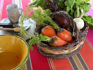 Légumes râpés : ingrédients