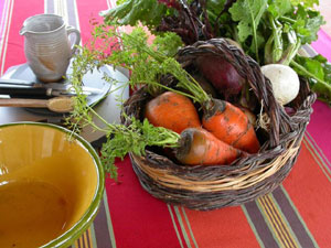 Légumes râpés en salade