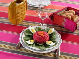 Entrée : légumes râpés en salade