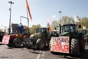 Manifestation de paysans en colère