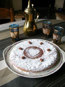 Ingrédients du gâteau moelleux aux noisettes et à la carotte