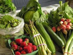 Contenu d'un panier de fruits et légumes bio