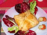 Petits paniers aux poireaux et coquilles Saint-Jacques