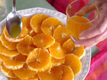 Salade d'oranges et petits biscuits