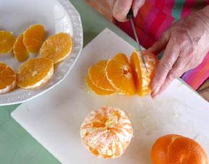 Savoir peler et couper les oranges