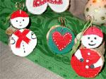 Sujet de Noël en rondelles de bois