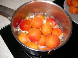Cuisson des abricots