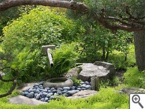 Utilisation de la pierre au jardin zen