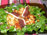 Galettes de pommes de terre et leur salade de mâche